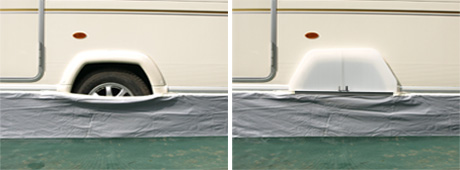 Caravan Awning Skirt Wheel Arch Draught Cover Single Axle